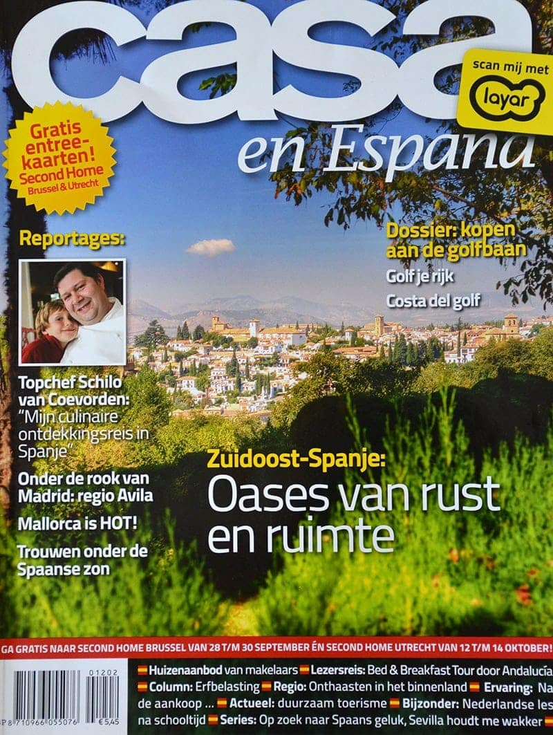 Tijdschrift Casa en España reisreportage