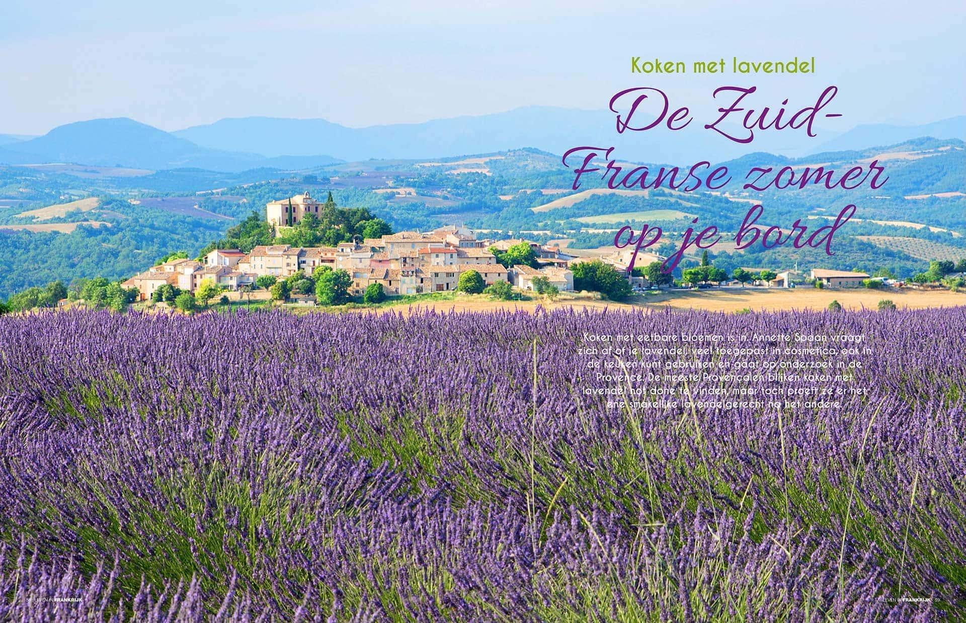Culinair artikel Koken Met Lavendel Provence